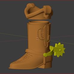 Captura.PNG Download STL file Woody Toy Story Boot • 3D printer template, estebanb