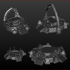 Altar Stone 0.PNG Download STL file 8 Sacrificial altars and incantations. • Design to 3D print, estebanb