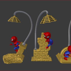 1.PNG Download STL file Baby Spiderman lamps for modular 3d printing • 3D print object, estebanb