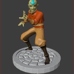 aang print 1.PNG Download STL file Avatar Aang • Template to 3D print, estebanb