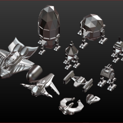 Download 3D printing models Spaceship Collection One, estebanb