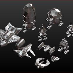 Descargar modelo 3D Spaceship Collection One, estebanb
