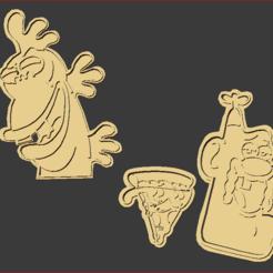 Captura.PNG Download STL file Uncle Grandpa Cookie Cutters • 3D printable design, estebanb