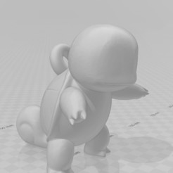 Squirtle 1.jpg Download STL file Squirtle Keychain (Pokémon) • 3D printer design, lucasxd331