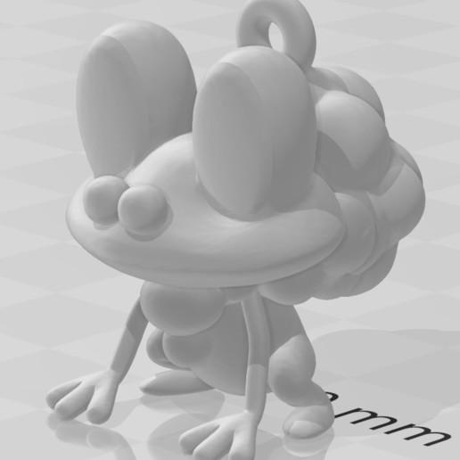 Télécharger fichier STL gratuit Porte-clé Froakie (Pokémon) • Design pour impression 3D, lucasxd331