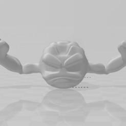 geodude 1.jpg Download STL file Geodude Keychain (Pokémon) • 3D print template, lucasxd331