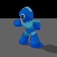 Download 3D printer templates Mega Man 7, Pixelcube
