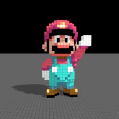 Download STL file Super Mario World, Pixelcube