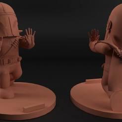 Imprimir en 3D gratis Mandalorian cellphone holder, eortizrangel
