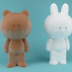 Descargar modelo 3D Bear and Bunny Kawai, eortizrangel