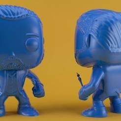 vangoghfunkorender.jpg Download STL file Van Gogh Funko (without ear) • 3D printer design, eortizrangel