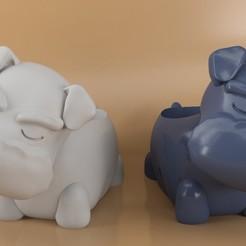 snau1.jpg Descargar archivo STL Snaucer flower pot Dog • Objeto para impresora 3D, eortizrangel