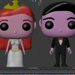novios.png Download STL file Wedding Couple Funko Bride and Groom • 3D printer design, eortizrangel