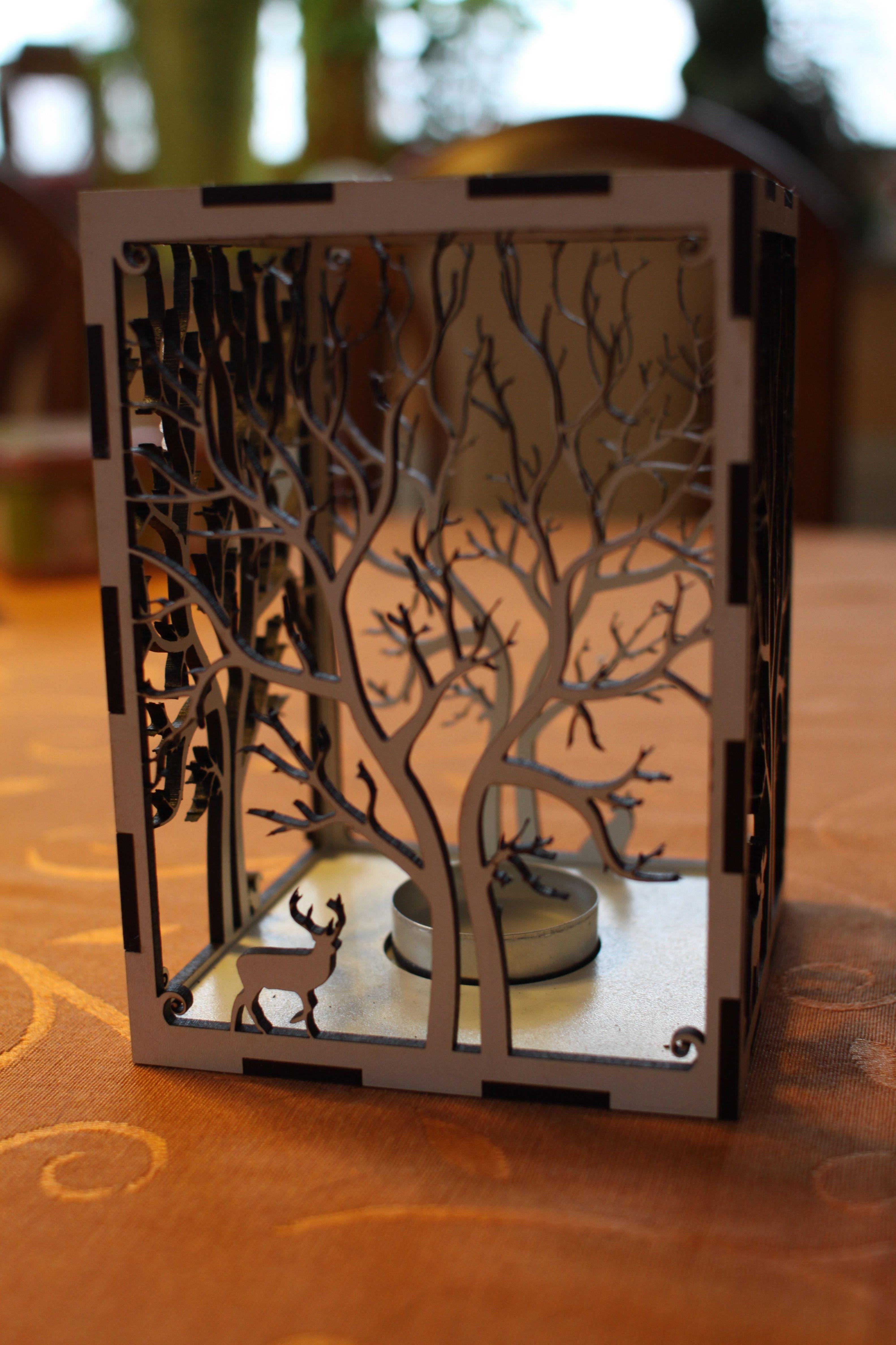 IMG_0730.jpg Télécharger fichier STL gratuit bougeoir bougeoir découpe laser Arbre & Animaux en bois bois présent bougie thé • Plan pour impression 3D, Urgnarb