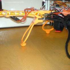 "Download free STL Flexible Landing Gear for Quadcopter ""Crossfire"" [deprecated], Urgnarb"