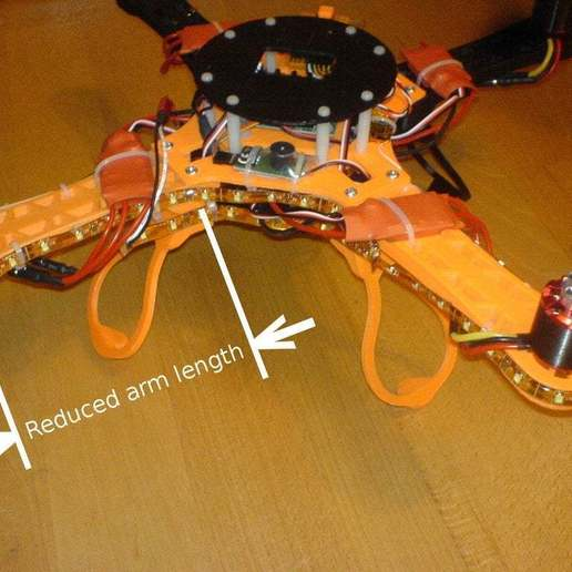 """Download free 3D printer designs Quadcopter """"Crossfire Mini"""" for Small Printers (15x15), Urgnarb"""