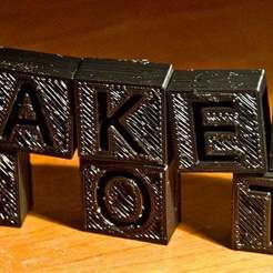 makerbotblocks12.jpg Télécharger fichier STL gratuit Blocs de lettres • Objet à imprimer en 3D, Urgnarb