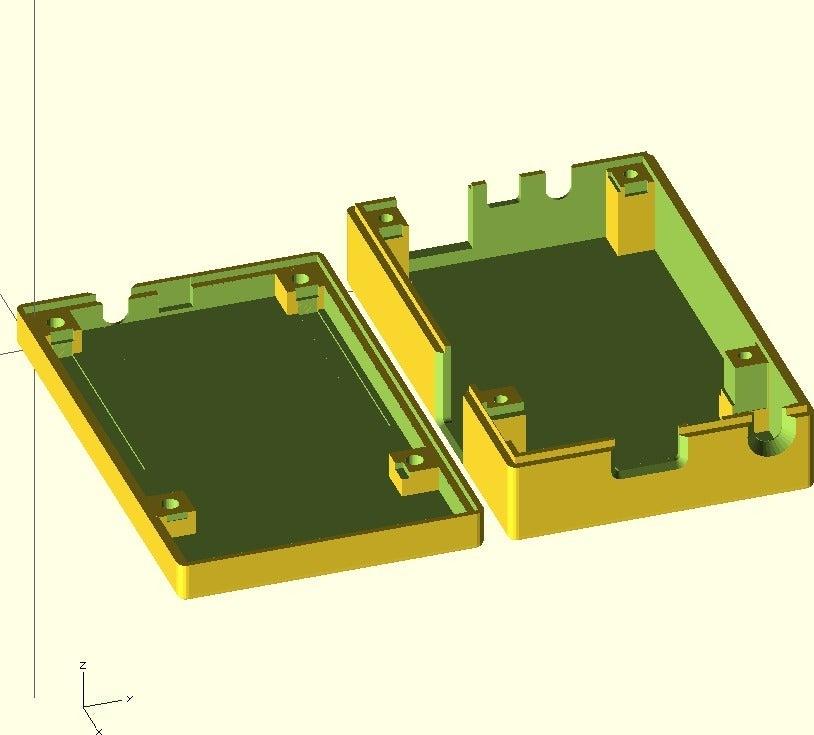 cubieboard-case1.jpg Télécharger fichier SCAD gratuit Générateur de cas universel avec exemple de cas pour Cubieboard • Modèle imprimable en 3D, Urgnarb