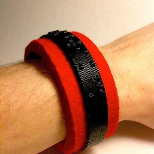 Download free 3D printer designs Braille Bracelet, Urgnarb