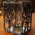IMG_0735.jpg Download free STL file candle holder laser cut Tree & Animals wood present tea candle • 3D printer design, Urgnarb