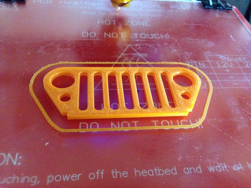 foto.jpg Download free STL file Jeep Grill Keychain • 3D print template, Urgnarb