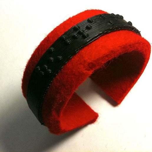 braille bracelet.jpg Télécharger fichier STL gratuit Bracelet Braille • Objet pour imprimante 3D, Urgnarb