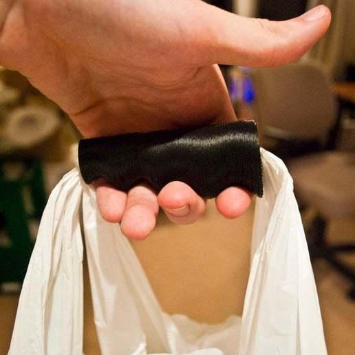 Download free 3D printer templates Ergonomic Plastic Bag Handle, Urgnarb