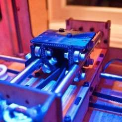 makerbot_mendel_y-stage1.jpg Télécharger fichier STL gratuit Mendel Inspired Drop-In Makerbot Y-Stage • Plan à imprimer en 3D, Urgnarb