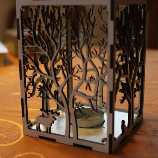 IMG_0731.jpg Download free STL file candle holder laser cut Tree & Animals wood present tea candle • 3D printer design, Urgnarb