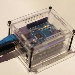Download free 3D printing models Laser cut Ethernet shield / Arduino enclosure, Urgnarb