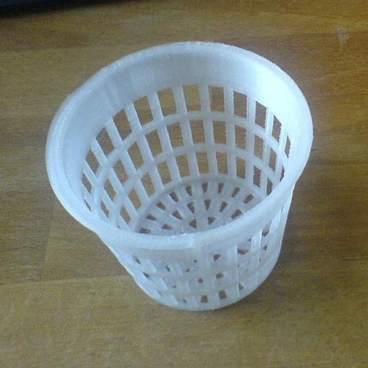 Download free SCAD file Parametric Net Pot / Net Cup for Hydroponics / Aeroponics / Fogponics • Template to 3D print, Urgnarb
