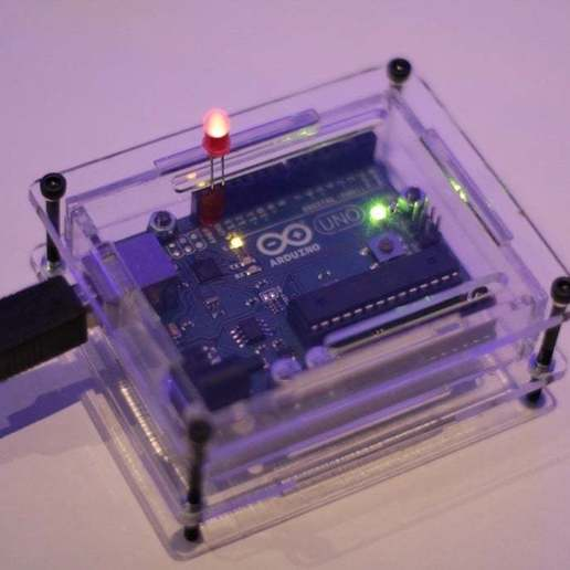 Download free 3D printer templates Laser cut Arduino enclosure, Urgnarb