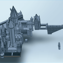 Download free STL file Hogwarts School • 3D print object, Urgnarb