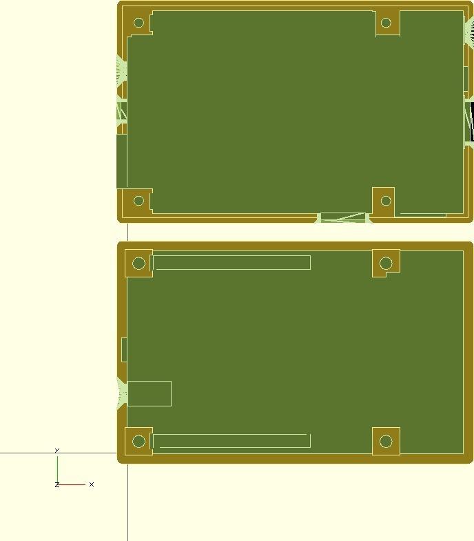 cubieboard-case2.jpg Télécharger fichier SCAD gratuit Générateur de cas universel avec exemple de cas pour Cubieboard • Modèle imprimable en 3D, Urgnarb