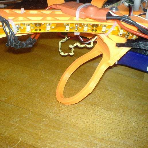 """Download free 3D printer designs Flexible Landing Gear for Quadcopter """"Crossfire"""" Version 3, Urgnarb"""