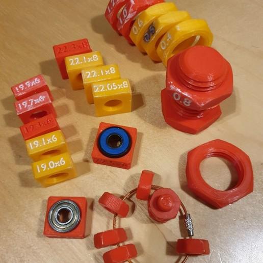 Télécharger fichier 3D gratuit AJUSTEMENTS DE ROULEMENTS ET PAS DE VIS, franckober