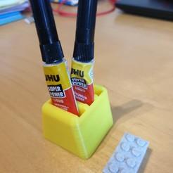 vue 3 quart.jpg Download free STL file SUPERGLUE LOCTITE TUBE RACKS • Model to 3D print, franckober