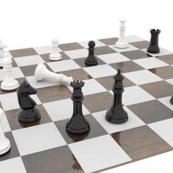 Ajedrez.jpg Download OBJ file Chess • 3D printing model, EdFernandez