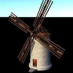 Descargar modelo 3D Molino de viento, EdFernandez
