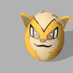 arcanine.png Download STL file Growlithe (Container) • 3D printable template, jona-rc