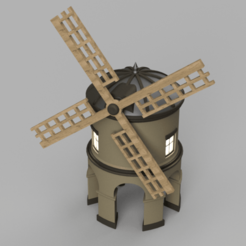 Download free STL Chesterton Windmill, Piggie