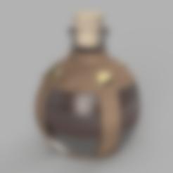 Télécharger fichier STL gratuit Potion de restauration mineure (bouteille de potion) • Modèle pour impression 3D, Piggie