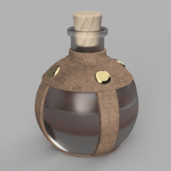 Download free STL file Potion of Minor Restoration (Potion Bottle) • 3D printable template, Piggie