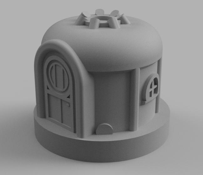 Yurt.png Télécharger fichier STL gratuit Yourte du village • Design pour imprimante 3D, Piggie