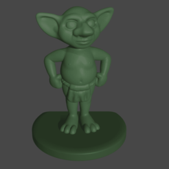 FantasyGoblin.png Download free STL file Fantasy Goblin • 3D printer model, Piggie