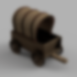 HitchAxels.stl Download free STL file Covered Wagon • 3D printing template, Piggie