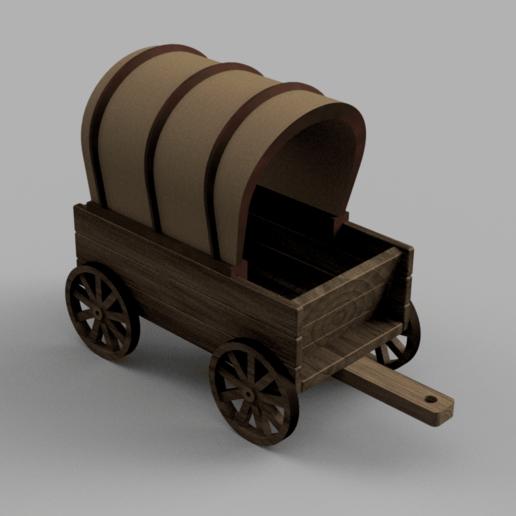 coveredwagon.png Download free STL file Covered Wagon • 3D printing template, Piggie