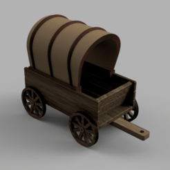 Download free STL file Covered Wagon • 3D printing template, Piggie