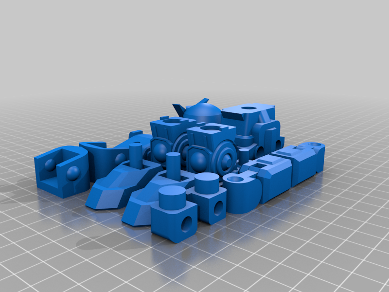 GundamToy.png Download free STL file Gundam inspired robot toy • 3D print model, Piggie