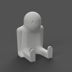 Download free STL file Bob the Thinker • 3D print design, Piggie